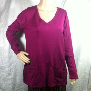 St Johns Bay Berrycrush Long Sleeve V-neck Sweater